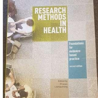 Research Methods in Health - By Pranee Liamputtong