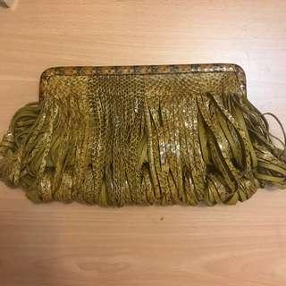 Authentic Katherine Kwei Snakeskin Leather Clutch RRP >RM1500