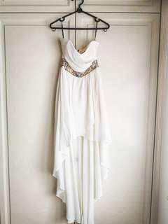 Embellished cream dress