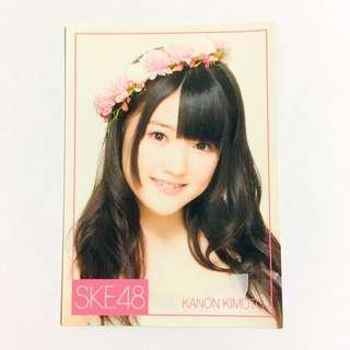 SKE48 HKT48 木本花音 小卡 ske48 hkt48 akb48