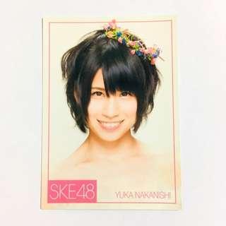 SKE48 中西優香 小卡 ske48 akb48