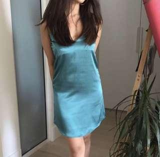 Satin cami top in turquoise (price reduced)