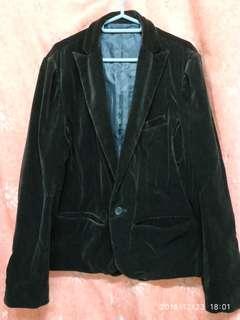 絲絨深啡色外套