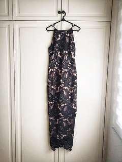 Double woot black dress