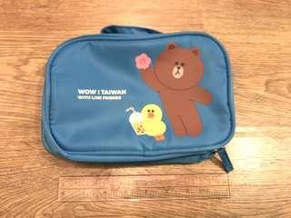 Line friends 台灣版 旅行化妝袋 travel toiletries pouch