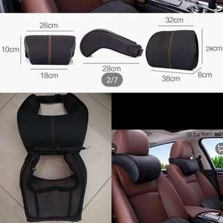 Adjustable PU Leather Memory Pillow Car Seat