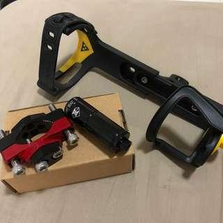 Topeak bottle cage with spirit beast clamp