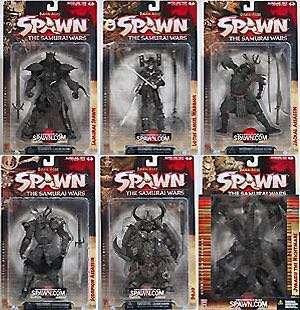 Complete Set Samurai Wars Spawn