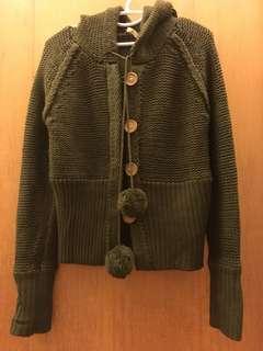 毛線連帽外套(送新衣)