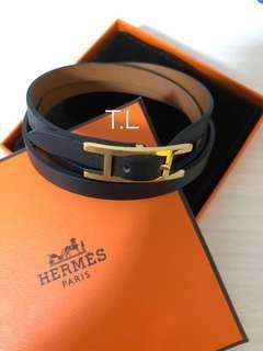 Hermes leather Hapi bracelet