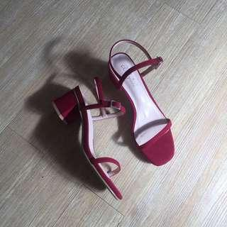 (NEW) Red Low Heels