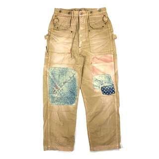 Kapital Kountry Patchwork Painter Pants / vintage 古著 吊帶 日本製