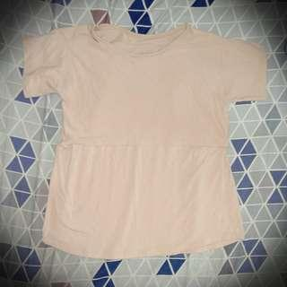 🌺Nursing top (breastfeeding shirt) Cream