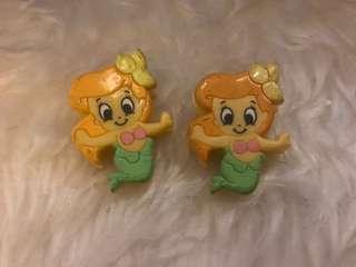 Disney baby Ariel Clip 美人魚 小魚仙 絕版小夾子