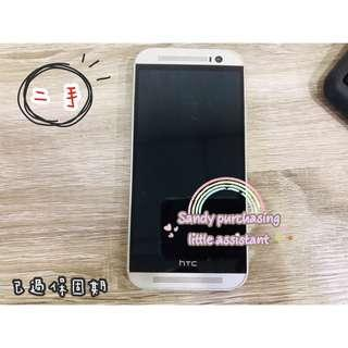 HTC One M8 16g 空機 銀色 可面交 八成新 二手 htcm8 htc m8 現貨 宏達電