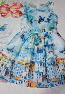 Petit Monde Artsy Blue Dress