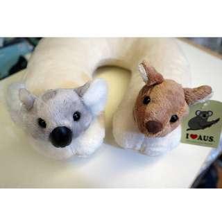 Kangaroo & Koala Head Support Cushion  (袋鼠與樹熊頸枕)
