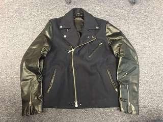 英國品牌 MKI wool leather rider jacket Wtaps Levis nike