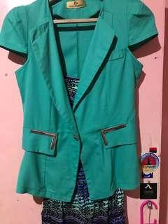 Green Blazer short Sleeve