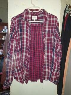 F21 plaid polo