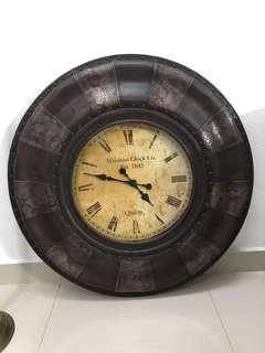 Antique wall clock #XMAS50