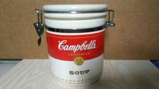 Campbells金寶湯陶瓷密實盅 器皿 盒