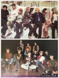 BTS and Wanna One poster