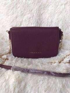 Charles & Keith Sling Bag (Maroon)