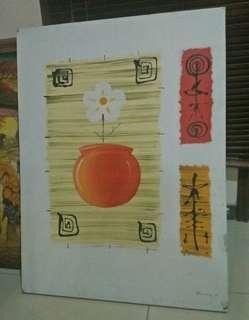 Lukisan dinding kanvas tinggi 90cm lebar 70cm