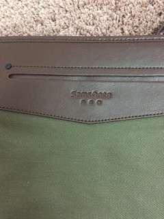 samsonite red sling bag