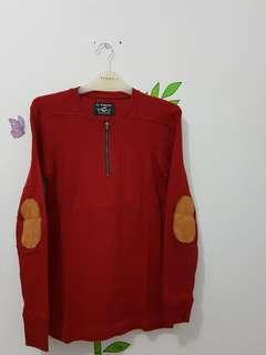 Kaos panjang maroon