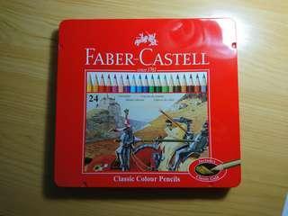 🚚 fabercastell 24色色鉛筆