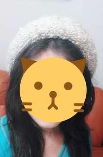 冬季保暖毛線帽/冬季加厚甜美毛線帽/時尚百搭護耳針織帽/毛線帽