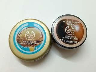 The Body Shop Shea Butter Lip Butter and Solid Oil Lips and #XMAS50