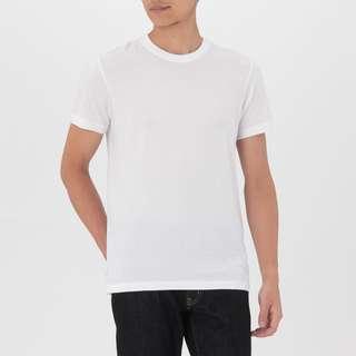 muji plain white shirt
