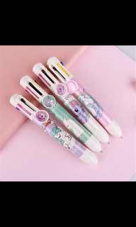 7 coloured unicorn pen