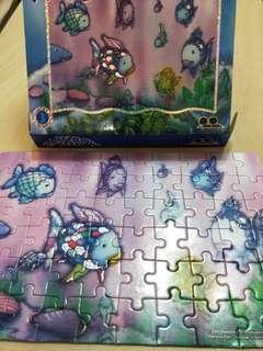 🚚 彩虹魚60片拼圖 rainbow fish 60 piece puzzle