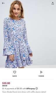 Purple floral dress sz14/L
