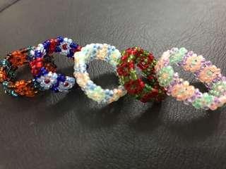 5 pcs Pretty colourful rings