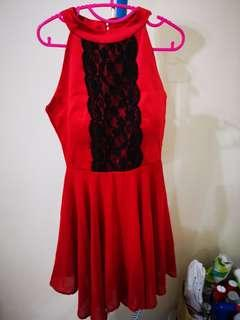 Red Lace Dress #cny888