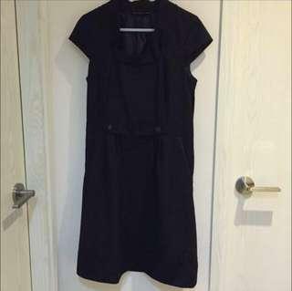 斯文裙Black Grey Work Dress 黑灰色連身裙