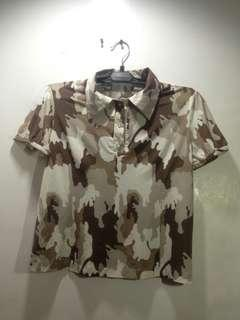 CAMOUFLAGE BLOUSE