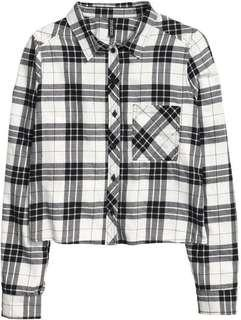 H&M Black and White checkered Flannel