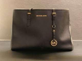 Michael Kors Work Handbag (Black & Gold)