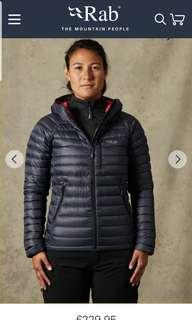 Rab microlight woman's down jacket
