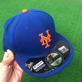 Authentic Newera NY Mets Baseball 59Fifty Fitted Full Cap 7 1/4