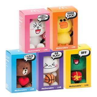 MCDONALD'S X LINE PLUSH COLLECTIBLES (Cony & Brown only)