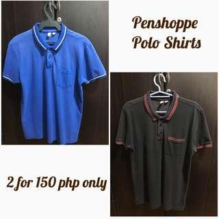 Penshoppe Polo Shirt 2 for 150 php only