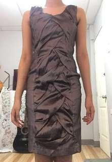 Silver Sexy Sleeveless Formal Dress Fitted