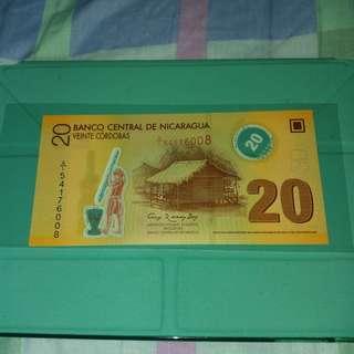 [新年特賣] 2007 尼加拉瓜 20科爾多瓦
